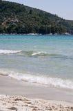 Waves. In Thassos, Greece, Golden Beach Stock Photos