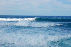Waves. Sea waves breaking at shore Royalty Free Stock Photo