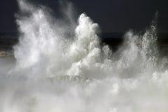 Waves. Big stormy waves crashing over Portuguese Coast Royalty Free Stock Photography