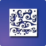 Waves. Wave pattern on blue background royalty free illustration