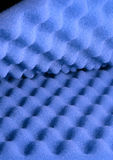 Waves. Two sheets of blue acoustic foam royalty free stock photos