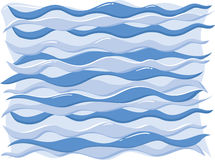 Waves. Background of wavy water, vector based Royalty Free Stock Image