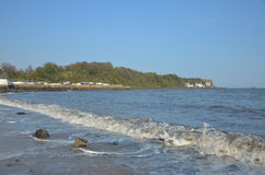 Waves at Aberdour Beach Stock Photography