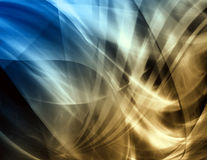 Waves, abstract background. Abstract background, blue and brown color Stock Photo