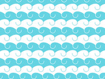 Waves, abstract background with hand-drawn waves. Vector Royalty Free Stock Images