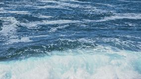 Waves of the Adriatic sea after storm stock footage