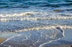 Waves in alicante spain Stock Photo