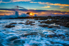 Free Waves And Rocks At Sunset, At Little Corona Beach Royalty Free Stock Photos - 51457878