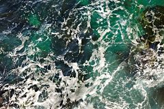 Waves ashore Stock Photography