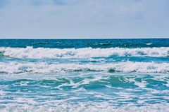 Waves of the Atlantic coast in the Brittany royalty free stock photo