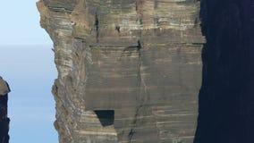 Waves Atlantic Ocean Breaking onto Rocks stock video footage