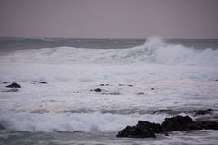 Waves of the Atlantic Ocean Royalty Free Stock Photography