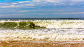 Waves on the Atlantic Ocean near Seignosse - France Stock Images