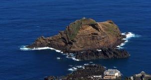 Waves in Atlantic Ocean, Porto Moniz, Madeira Island Portugal, Real Time. 4K stock video
