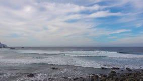 Waves of Atlantic Ocean stock video footage