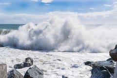 Waves av havet Arkivbild