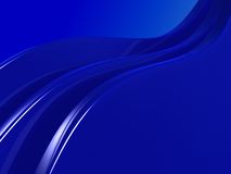 Waves background. Abstract 3d illustration of waves background blue Stock Photography