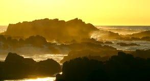 Waves crashing near Big Sur and Monterey, California Stock Photo