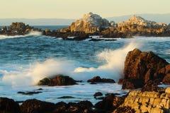 Waves crashing near Big Sur and Monterey, California Stock Photography