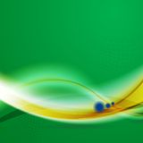 Waves background in Brazilian colors Royalty Free Stock Images