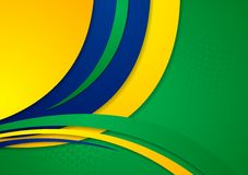 Waves background in Brazilian colors Stock Photography