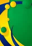 Waves background in Brazilian colors Royalty Free Stock Photo
