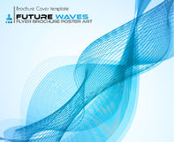 Waves background for brochures and flyers design. Royalty Free Stock Photos