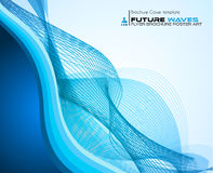 Waves background for brochures and flyers design. Stock Image