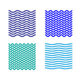Waves background seamless patterns. Seamless pattern waves background set Stock Photos