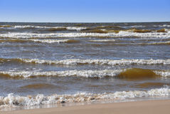 Waves, Baltic Sea, Jurmala, Latvia Stock Photography