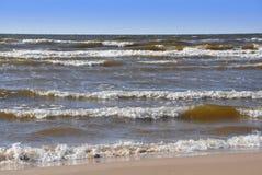Waves, Baltic Sea, Jurmala, Latvia stock photography