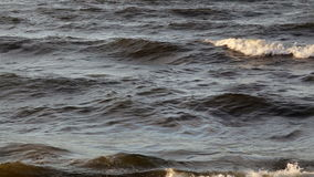 The waves of the Baltic stock footage