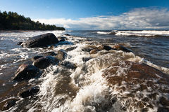 The waves of the Baltic Sea Stock Photo