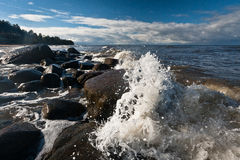 The waves of the Baltic Sea Stock Photography