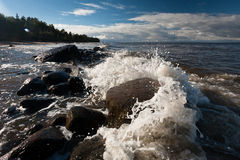 The waves of the Baltic Sea Stock Photos