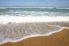 Waves on the beach. From atlantic ocean Stock Photography
