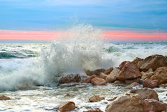 Waves on the beach Royalty Free Stock Photos