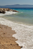 Waves on the beach. Podgora, Croatia Stock Image
