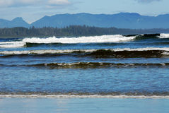 Waves on beach Stock Image