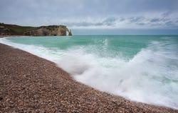 Waves on beach at Alabaster coast Royalty Free Stock Photos
