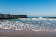 Waves on Beach at Border Field State Park Royalty Free Stock Photos