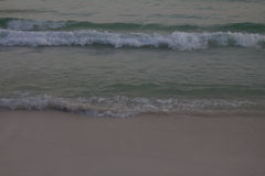 Waves on Beach. Waves crashing on to the beach royalty free stock photography