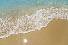 Waves on a beach stock photo