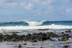 The waves on the beach. In Kauai, Hawaii Royalty Free Stock Photo