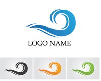 Waves beach logo and symbols template icons app.. Waves beach logo and symbols template icons app Stock Image