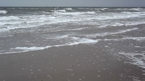 Waves at the beach stock footage