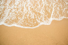 Waves on a beach summer. Stock Photography