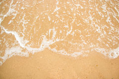 Waves on a beach summer. Stock Photo