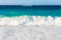 Waves on the beach of a tropical sea.  Royalty Free Stock Photo