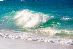 Waves on the beach of a tropical sea Stock Image